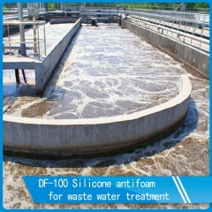 Silicone antifoam for waste water treatment